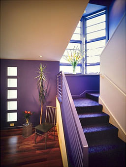 Stairway and window highlight this renovation