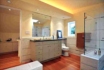 Master bathroom suite in San Francisco